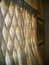 Burlap Window Treatments Burlap Smocked Curtains U0026 Drapes In Natural Or Ivory 100 00 Via
