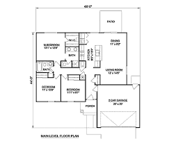 Single Story Ranch Style House Plans Ranch Style House Plan 3 Beds 2 00 Baths 1233 Sq Ft Plan 116 240