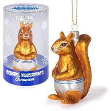 squirrel in underpants ornament archie mcphee co