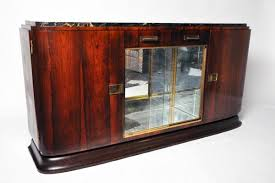 art deco french sideboard with stone top c 1940