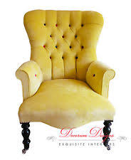 Yellow Velvet Armchair Yellow Armchairs Ebay