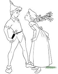 peter pan u0026 tinker bell coloring pages disney coloring book
