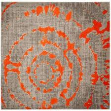 Grey And Orange Rug Orange Square Square 7 U0027 And Larger Area Rugs Rugs The