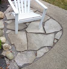 Pea Gravel Concrete Patio by Summer Of Diy Flagstone Patio