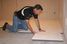 insulated subfloor installation portland basement floor decking