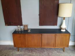 vintage ground mid century buffet media console credenza