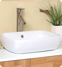 fresca bellezza natural wood modern double vessel sink bathroom