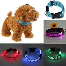 dog collar lights waterproof pets dog collar led lights leopard flash waterproof collar with
