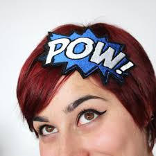 book headband pow comic book headband basil s boutique
