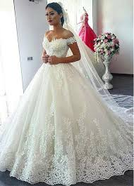the shoulder wedding dress buy discount fascinating tulle the shoulder neckline gown