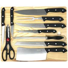 home kitchen cutlery by hullr with chef knife set and cutting board