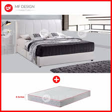 mf design mf design cinderella divan bed frame with 8 inch damask high