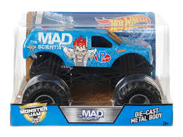 monster jam rc truck bodies wheels monster jam 1 24 scale diecast vehicle mad scientist