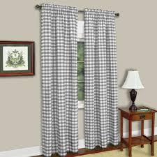 Grey Plaid Curtains Grey Buffalo Plaid Curtains Wayfair