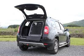 renault duster 2013 transk9 b23ss dog cage dog crate dog transit box fitted to dacia