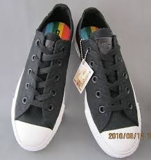 rainbow black friday converse all star ox rainbow music black trainers converse shop