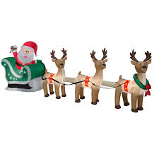 airblown santa sleigh and reindeer 12 5ft wide by