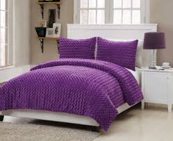 Purple Comforter Twin Amazon Com Vcny Rose Fur 2 Piece Comforter Set Twin Purple