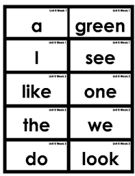 words cards common 1st grade high frequency words flash cards