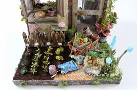Coffee Grounds In Vegetable Garden by Cinderella Moments Petite Maison De Jardin Custom Dollhouse