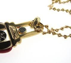 gold pendant long necklace images La nouvelle bague enamel diamond gold pendant long necklace at 1stdibs jpg
