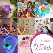 real flowers real flower crafts activities for kids on as we grow