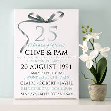 Silver Anniversary Invitation Cards Personalised Silver Wedding Anniversary Typography By Cherry Pete
