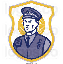 police officer badge clipart royalty free vector of a logo of a