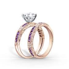 amethyst wedding rings amethyst and diamond engagement rings by kirk kara