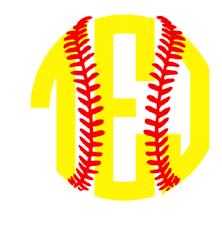 softball monogram iron on heat transfer monogram iron on
