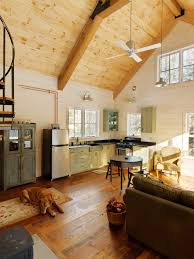 Vaulted Ceiling Open Floor Plans Rustic Open Floor Plans Kitchen Rustic With Ski House Clerestory