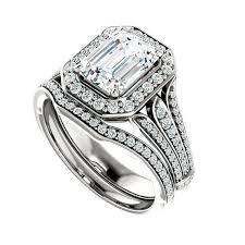 bridal sets 1 50 ct forever brilliant moissanite diamond wedding set bridal