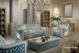 contemporary living rooms living room furniture in blue and gray fabric with capitonne