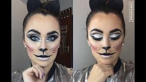 kitty cat halloween makeup youtube