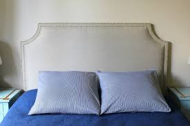 Upholstered Headboards Diy by Unique Diy Fabric Headboard With Nailhead Trim 62 In Easy Diy
