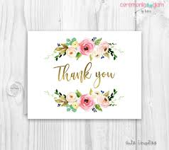 thank you cards floral thank you cards baby shower floral thank you card
