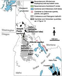 Lakeview Oregon Map by Detrital Zircon Geochronology Of The Sawtooth Metamorphic Complex