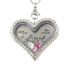 valentines necklace valentines charm heart necklace locket kingdom