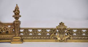 polished brass fireplace fender expandable at 1stdibs