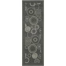 Indoor Outdoor Rug Runners Amazon Com Safavieh Courtyard Collection Cy1906 3908 Black And