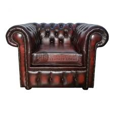 Real Chesterfield Sofa by Chesterfield Genuine Leather Antique Oxblood Red Club Chair Too