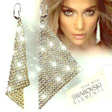 jlo earrings swarovki earing same as jlo gold worn once on the cruise