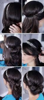 Frisuren Mit Haarband Lange Haare Anleitung by Anleitung Für Eine Elegante Frisur Mit Haarband Wiesn Frisuren