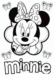 free minnie mouse disney coloring pages for girls or