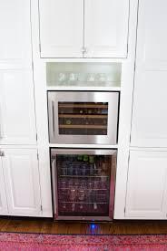 cabinet kitchen wine coolers cabinets best wine fridge ideas