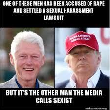 Bill Clinton Meme - bill clinton and donald trump compared in brutal meme