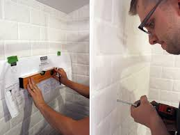 diy subway tile bathroom edition honestly maggie