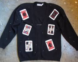 card sweater etsy