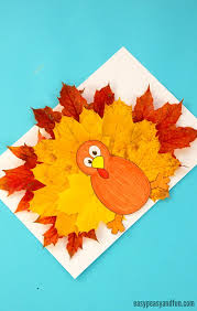 turkey leaf craft template easy peasy and