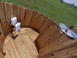 Outdoor Shower Fixtures Copper - luxury family tent en suite bathroom with freestanding copper